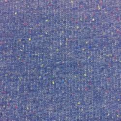 Sweat Strickstoff blau meliert - 37cm