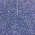 Maille sweat léger bleue chiné - 37cm