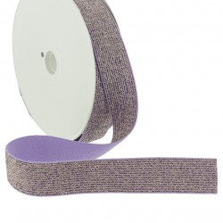 Elastique lurex violet - 20mm