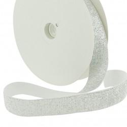 Elastique lurex argent - 20mm
