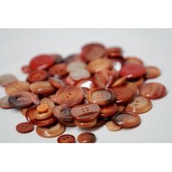 Bottoni sfusi - 150gr - toni arancione