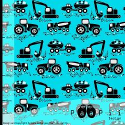 Paapii Design - Coton machines turquoises