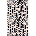 Coton géométrique cuivre