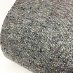 Maille sweat léger gris chiné