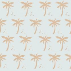 Coton palmiers menthe-or