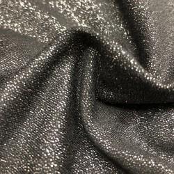 France Duval-Stalla - Viscose jersey black glitter