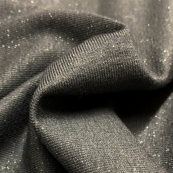 France Duval-Stalla - Viscose jersey glittery anthracite