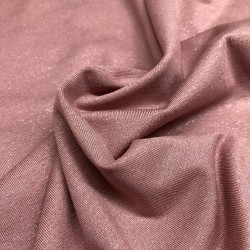 France Duval-Stalla - Viscose jersey old pink glitter