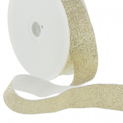 Elastique lurex doré - 20mm