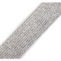 Elastique lurex blanc-argent - 20mm