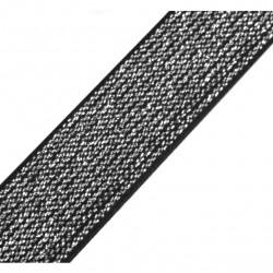 Elastique lurex noir-argent - 20mm