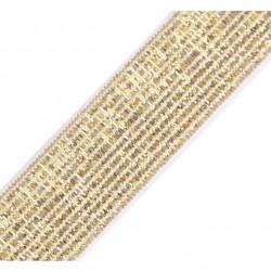 Elastic white-gold lurex - 20mm