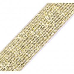 Elastique lurex blanc-or - 20mm