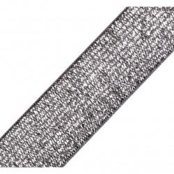 Elastico lurex argento-grigio - 20mm