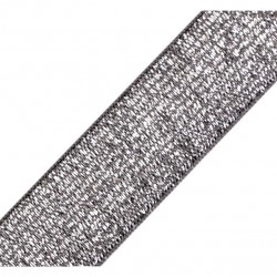 Elastique lurex gris-argent - 20mm