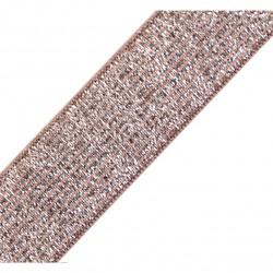 Elastique lurex rose-argent - 20mm