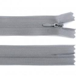 Chiusura a cerniera invisibile - grigio