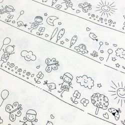 Tissu à colorier - Kids