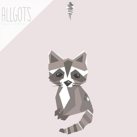 Allgots - Gösta the Raccoon - Soft pink