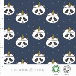 Elvelyckan Design - Panda dark blue