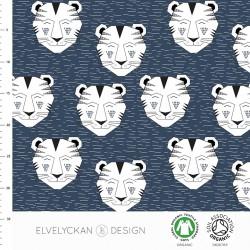 Elvelyckan Design - Tiger dark blue