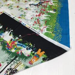 Kayo Horaguchi - Garland noir et bleu - 139cm