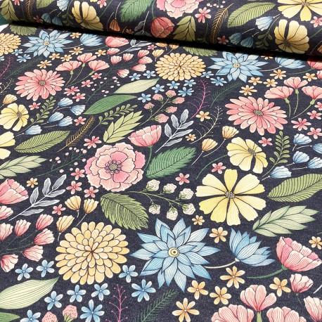 Tessuto a maglia fiori