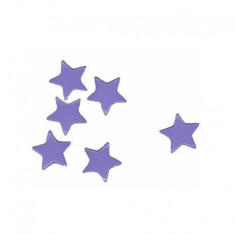Kunststoff Druckknöpfe Sterne - 30x