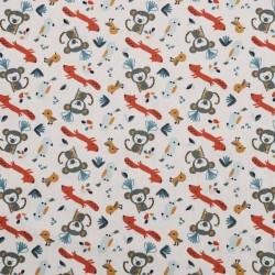 Coton monkeys-fox
