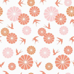 Coton motifs japonais