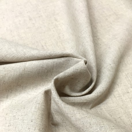 Beige cotton-linen
