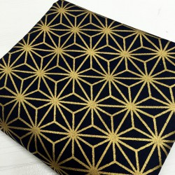 Asanoha noir-doré - 100cm