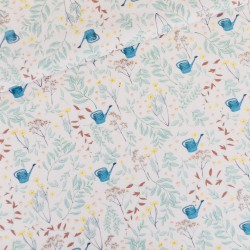 See You at Six - Cotton Gabardine Twill Flower Garden