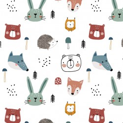 French terry Forest animals