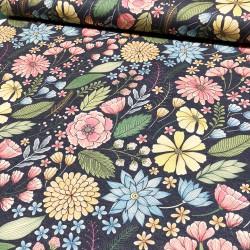Knit fabric flowers - 115cm