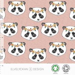Elvelyckan Design - Panda floral dusty pink