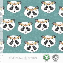 Elvelyckan Design - Panda floral aqua