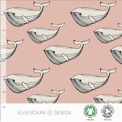 Elvelyckan Design - Whale dusty pink