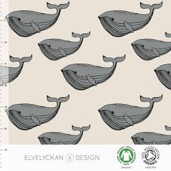 Elvelyckan Design - Whale grey & creme