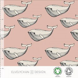 Elvelyckan Design - Whale dusty pink