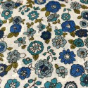 Cosmo - Broderie fleurs bleues