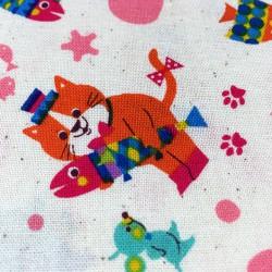 Cosmo - Natté de coton chats