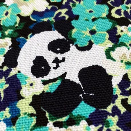 Cosmo - Natté de coton pandas roses