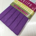 Biais uni violet