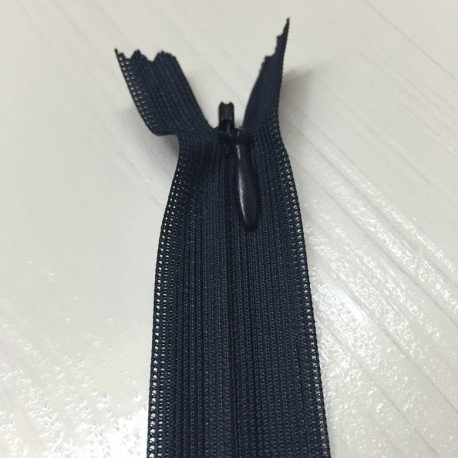 Invisible closed-end zip - dark blue