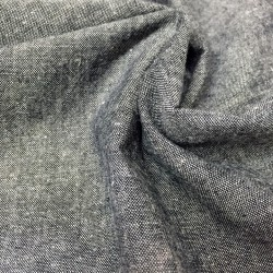 Black cotton-linen