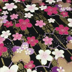 Japanische Blumen und asanoha