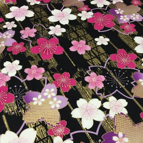 Fleurs japonaises et asanoha