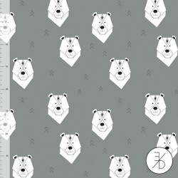 Elvelyckan Design - Polar bear grey