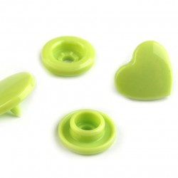 Pressions KAM coeurs verts pomme